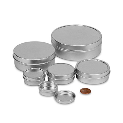 3 OZ SHALLOW ROUND STEEL TIN CAN - 24/PKG