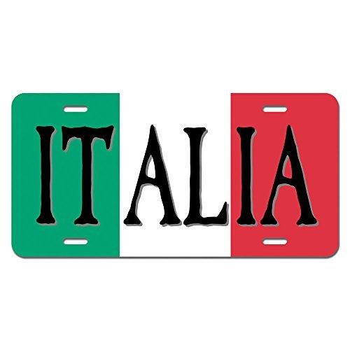zaeshe3536658 Italia Flag Italy Italian Novelty Metal Vanity License Tag Plate Auto Tag 12 x 6 inch. by zaeshe3536658