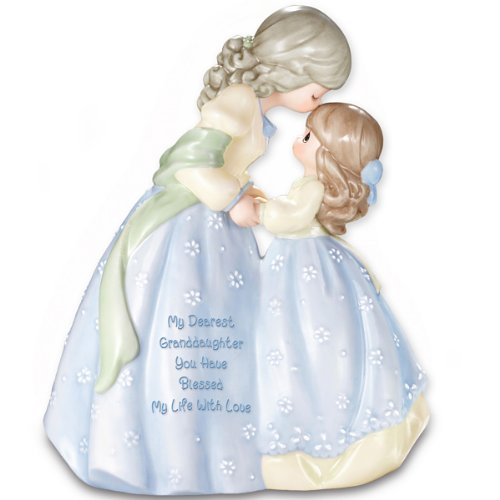 Precious Moments Collectible My Dearest Granddaughter Musical Figurine Gift by The Bradford Editions