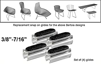 amazon com glides for harry bertoia felt chair bench sled diamond