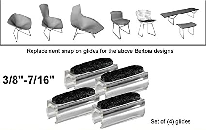 Admirable Proximitystandart 3 8 7 16 Replacement Sled Felt Base Glides For Harry Bertoia Chair Furniture Bench Diamond Bird Knoll Parts Set Of 4 Squirreltailoven Fun Painted Chair Ideas Images Squirreltailovenorg