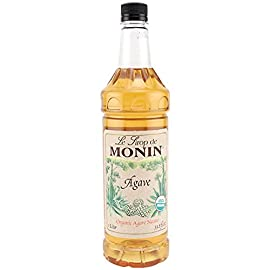 MONIN - Organic Agave Nectar Syrup (33.8 ounce) 2 Made with organic agave. A great substitute for sugar or simple syrup with a wide range of uses. Considered a healthier sugar alternative because of its low glycemic index.
