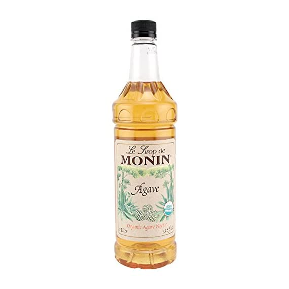MONIN - Organic Agave Nectar Syrup (33.8 ounce) 1 Made with organic agave. A great substitute for sugar or simple syrup with a wide range of uses. Considered a healthier sugar alternative because of its low glycemic index.