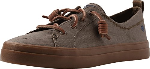 Sperry Women's Crest Vibe Waxed Dark Olive (Sperry Lace Oxfords)