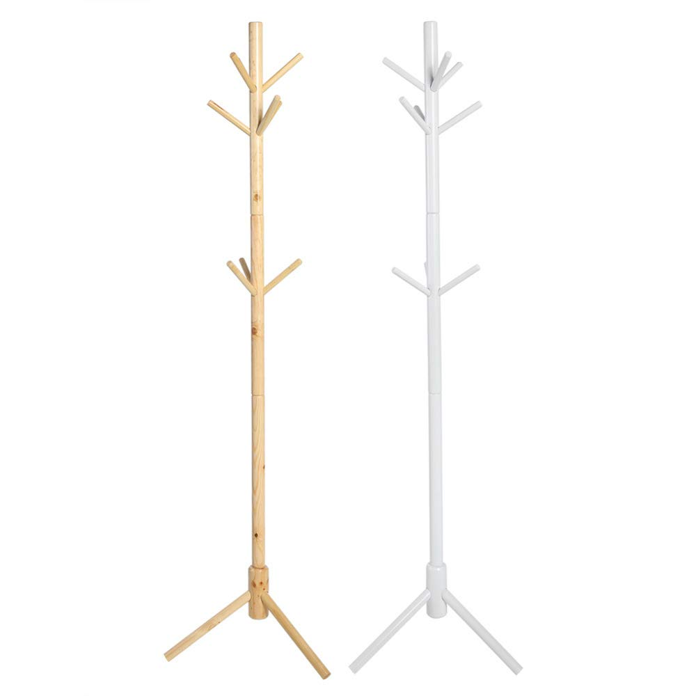 Wall of Dragon Wooden 9 Hooks Tree Style Coat Hat Rack Bag Clothes Garment Hanger Stands Hanging Scarves Hats Bags Clothes Shelf