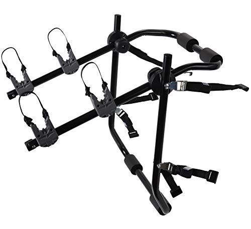 Motorup America Deluxe 2-Bike Rack for Car Mount Carrier – Bicycle Racks for Auto Trunk Fits Most Car Sedans, Hatchbacks, Minivans and SUV