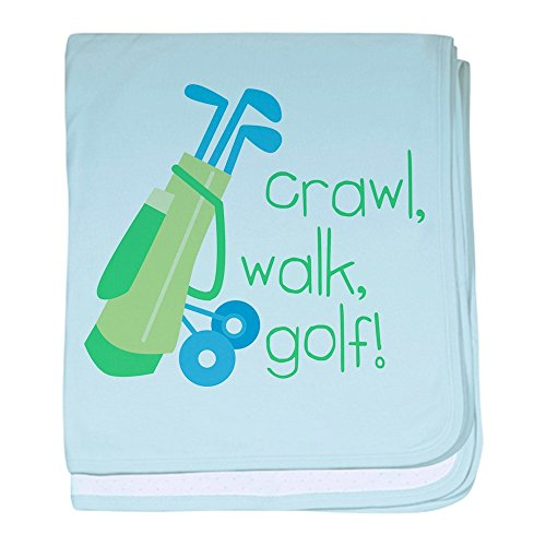 CafePress Crawl Walk Golf blanket