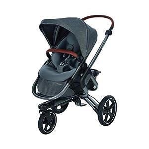 Bébé Confort NOVA 3W 'Sparkling Grey' Poussette Tout Terrain Gris Foncé De La Naissance Jusqu'à 3,5 Ans