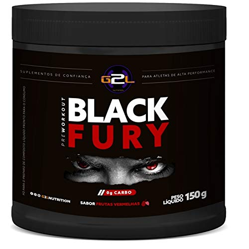 Black Fury Pre Workout 150g - G2L Nutrition - Frutas Vermelhas