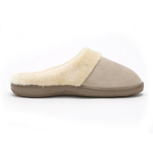� Tan Ladies Fur Plush Great Comfortable Pembrook girls Skid House women Slip Indoor Memory Outdoor adults Foam and on Non Faux for Slippers Sole Shoes ISpdxxEwq