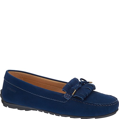 Sebago Womens Womens Harper Kiltie Blue Leather Shoes In Size 37.5 E (W) Navy