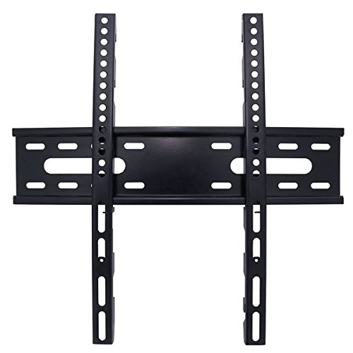 Price comparison product image TV Wall Mount Bracket with low profile design for most of 26-55 Inch Smart TV LED LCD Plasma Flat Sceen Monitor,  up to VESA 400x400mm and 110 lbs. weight capacity - TVWMNT09