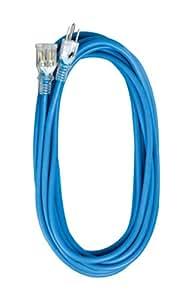 Voltec C & D 05–0036214/3SJEOOW all-flex Cable de extensión con iluminado End, 15metros, color azul