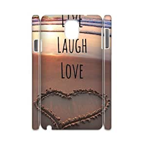 Live Laugh Love Personalized 3D Cover Case for Samsung Galaxy Note 3 N9000,customized phone case ygtg577431