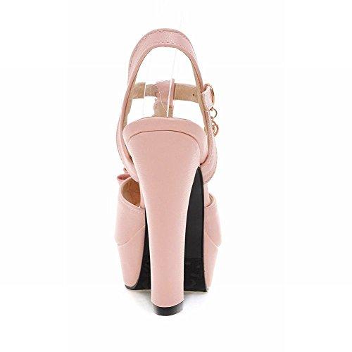 Mee Shoes Damen süß high heels t-strap Slingback Sandalen Pink