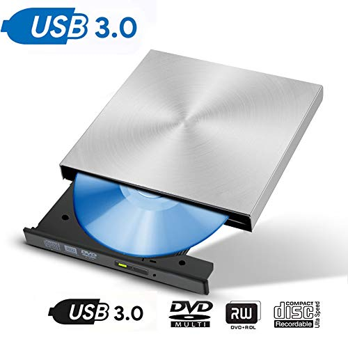 Pure Drive Usb - Fancart USB 3.0 External DVD CD Drive Burne CD/DVD-RW Burner Writer Player for Laptop (Brilliant Sliver)