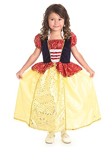 Standard Child Snow White Costumes (Little Adventures Traditional Snow White Girls Princess Costume - Medium (3-5 Yrs))