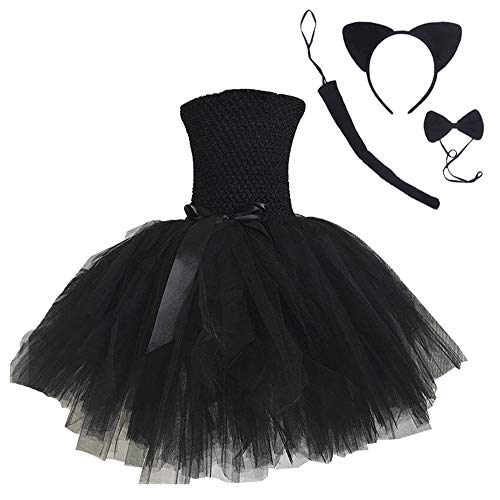 Cat Costume for Girls Halloween Role Play Tutu