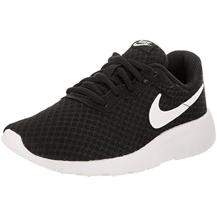 Nike Boy's Tanjun Running Sneaker (2 Little Kid M, Black/White/White)