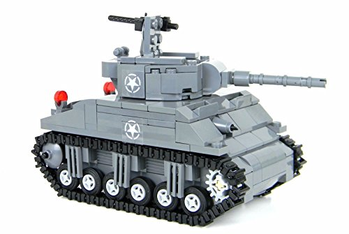 Battle Brick Custom M4 Sherman Tank World War 2 Complete for sale  Delivered anywhere in USA