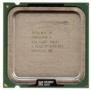 Intel Pentium D 820 2.8GHz 800MHz 2x1MB Socket 775 Dual-Core CPU by Intel