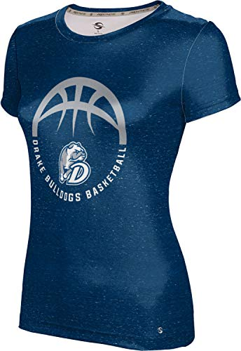 ProSphere Drake University Basketball Girls' Performance T-Shirt (Heather) 10047 Blue and Gray