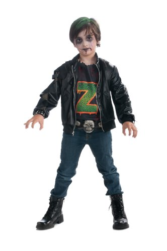 Rock Zombie Costume (Boy's Zombie Punk Rocker #3 Costume, Large)