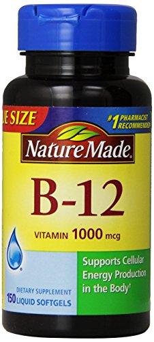 Nature Made Vitamin B-12 Value Size Softgel, 1000 mcg, 150 Count (Vitamin A 1000 compare prices)