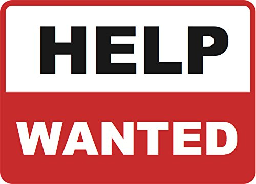 Help Wanted - Business Sign Inches Commercial Signs - Single Sign, 12x18 ()