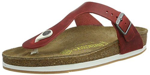 cheap for discount b0469 a507b Birkenstock Gizeh New Rubber Sole in Oiled Leather Red (38 ...