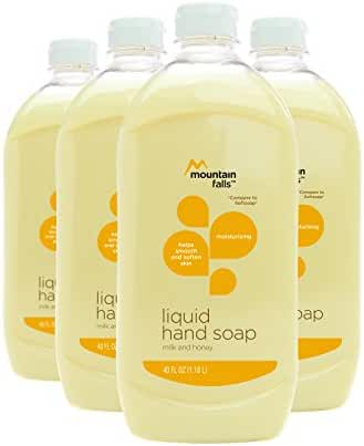 Mountain Falls Liquid Hand Soap, Milk and Honey, 40 Fluid Ounce (Pack of 4)