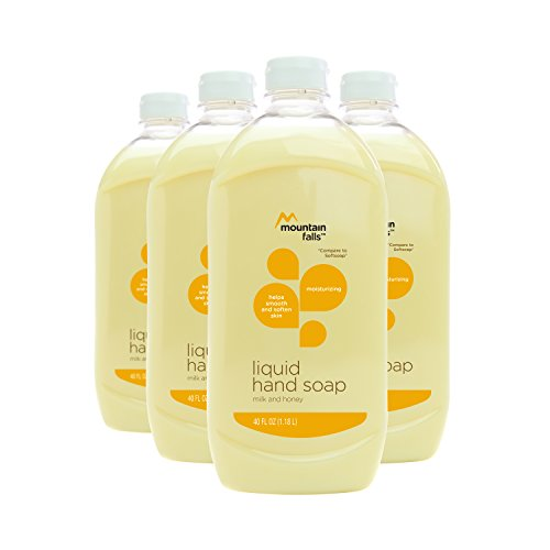 Mountain Falls Liquid Hand Soap Refill Bottle, Milk and Honey, Compare to Softsoap, 40 Fluid Ounce (Pack of 4)