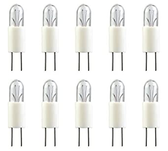 6.3 Volts Pack of 10 0.04 Amps LIT163 x 10 OCSParts 7380 Light Bulb