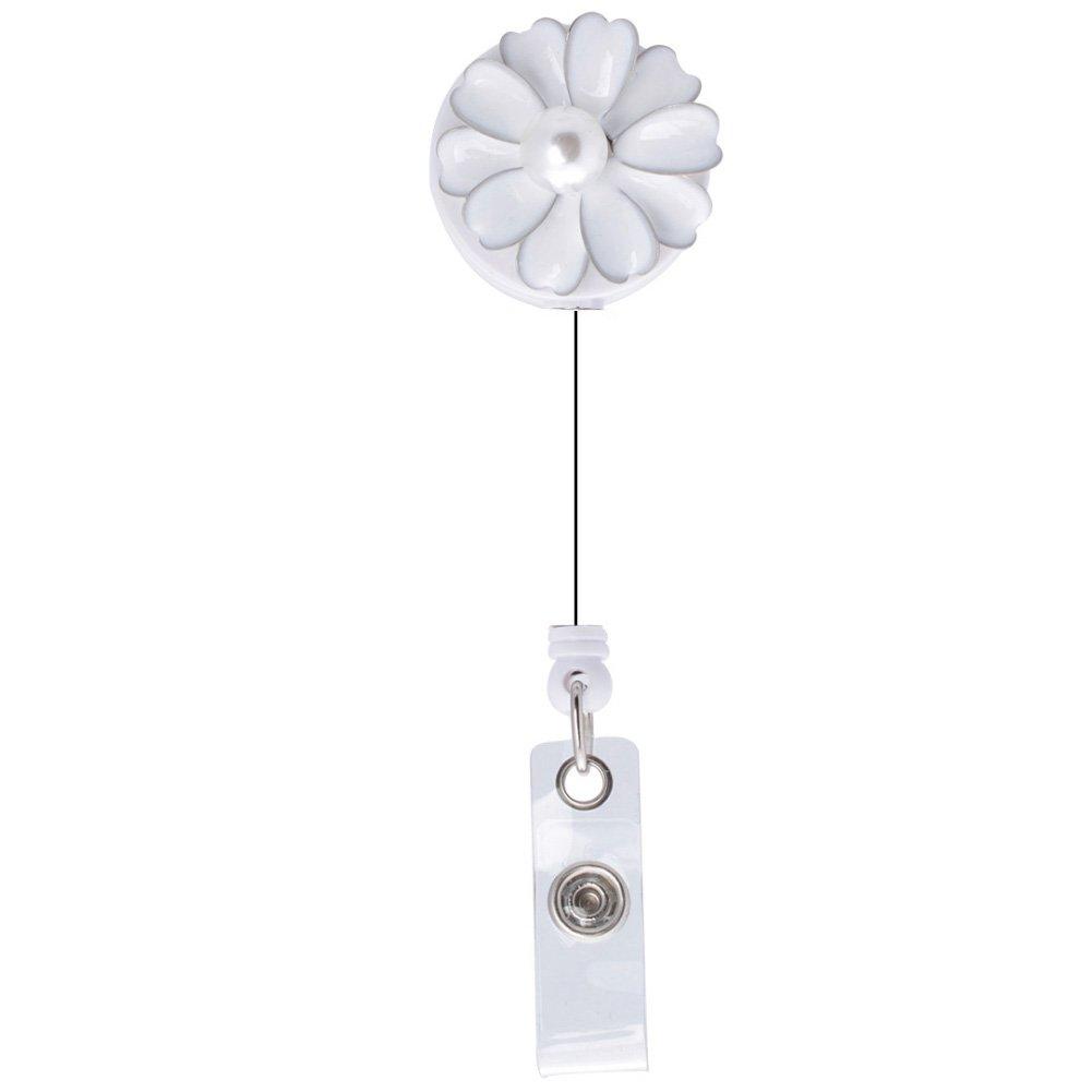 Soleebee Casuale misto 12 pezzi Retrattile Resina Strass Bobina ID Porta Badge holder con Clip da 360/° Porta carta didentit/à Retrattile 610mm