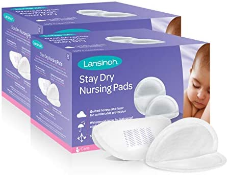 Pack of 100 Stay Dry Disposable Breast Pads Lansinoh Nursing Pads