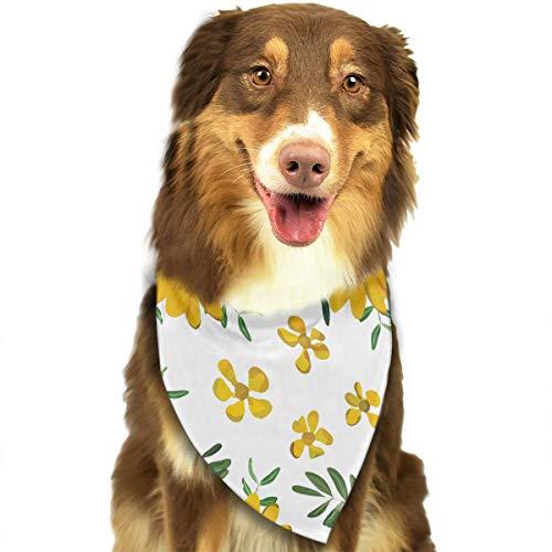 (LOVE CORNER Pet Dog Bandana Triangle Bibs Scarf Vintage Yellow Sunflower Hankie Handkerchiefs Scarves for Kids Baby Girl Boy Dog - Birthday Bandana Scarves Great Dog Birthday Gift)