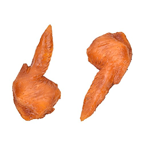 Artificial Chicken Wings Fake Food Lifelike Models For Trick Home Kitchen Wedding Good Decoration - Hot Toppings Dogs For Good