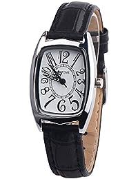 Women Quzrtz Watches On Sale,POTO Quartz Women Watches Luxury Quartz Chic Retangle Alloy Round Case Pointer Wristwatch Womens Leather Wrist Watches For Ladies Clearance (Black)