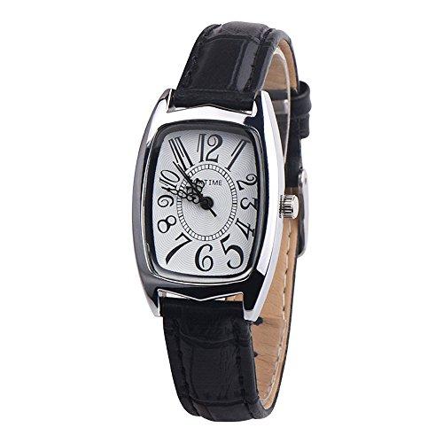 Women Quzrtz Watches On Sale,POTO Quartz Women Watches Luxury Quartz Chic Retangle Alloy Round Case Pointer Wristwatch Womens Leather Wrist Watches for Ladies Clearance (Chic Ladies Watch)