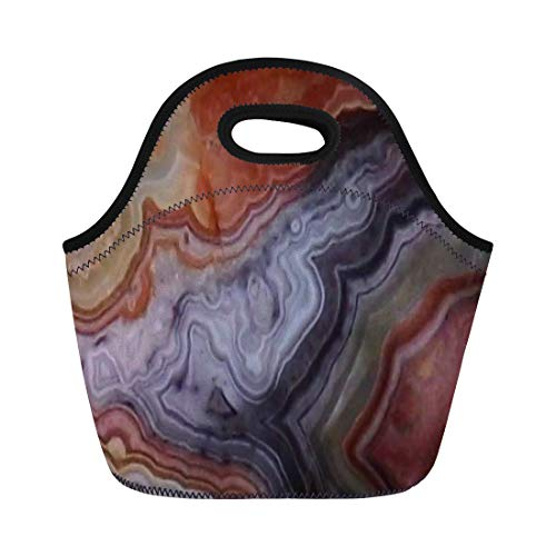 Ablitt Lunch Bags Colorful Gemstone Agate Mexican Crazy Lace neoprene lunch bag lunchbox tote bag portable picnic bag cooler bag