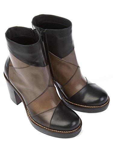 DONNAPIU'' Women's 9880NERO Black Leather Ankle Boots YmBL5