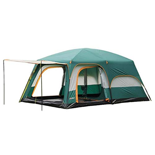 6-12-People-Tent-Two-Rooms-Or-One-HallThree-Doors-and-One-Window-Waterproof-Windproof-UV-Protection-Suitable-for-Corporate-TravelFamily-GatheringsCampingFishingBeach-Etc