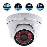 Cheap Unitech HD 4MP 1080P AHD OSD Metal Dome Surveillance Security Camera Night Vision 65ft IR Metal Shell IP66 Waterproof Protection