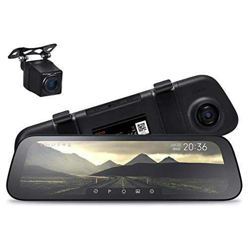 "70mai Rearview Dash Cam Wide, Sony IMX307 Night Vision Backup Camera IP67 Waterproof, Mirror Dash Cam 1080p, 10"" IPS Screen Smart Dash Camera for Cars, Front and Rear Dual Lens 265°, App WiFi (2021)"