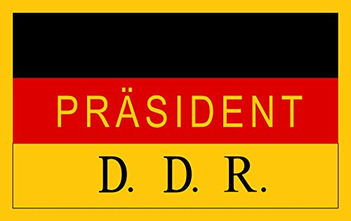 magFlags Large Flag President of the German Democratic Republic | landscape flag | 1.35m² | 14.5sqft | 90x150cm | 3x5ft - 100% Made in Germany - long lasting outdoor flag