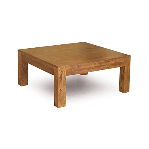 Rustic Modern Wood Square Cocktail Coffee Table - Includes M