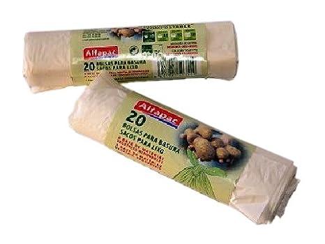 Bolsa basura orgánica fécula de patata 10L. 20 bolsas ...