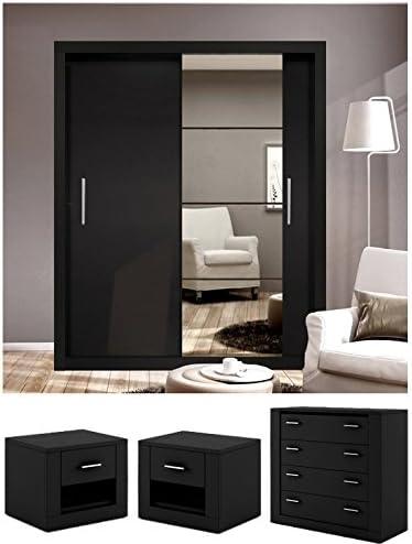 Marca nuevo Set de dormitorio moderno Arti 4 – Espejo Puerta ...