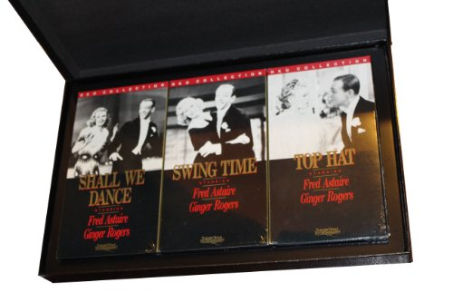 RKO Pictures Original Edition - Astair & Rogers 3 Movie Set Gift Box Including Shall We Dance, Swing Time & Top Hat. Includes 3 Black & White Photograph Prints