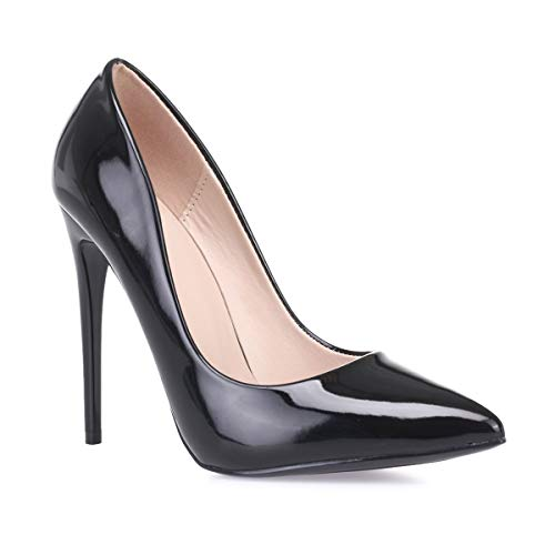 Modeuse La Sintético Mujer Vestir De Negro 50633 Zapatos vnrfWdn